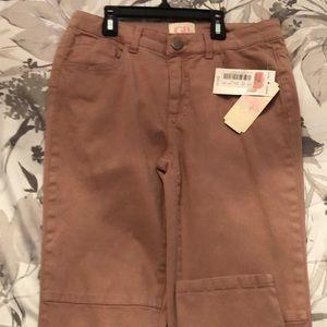 Peach Colored Denim Girl's Jeans